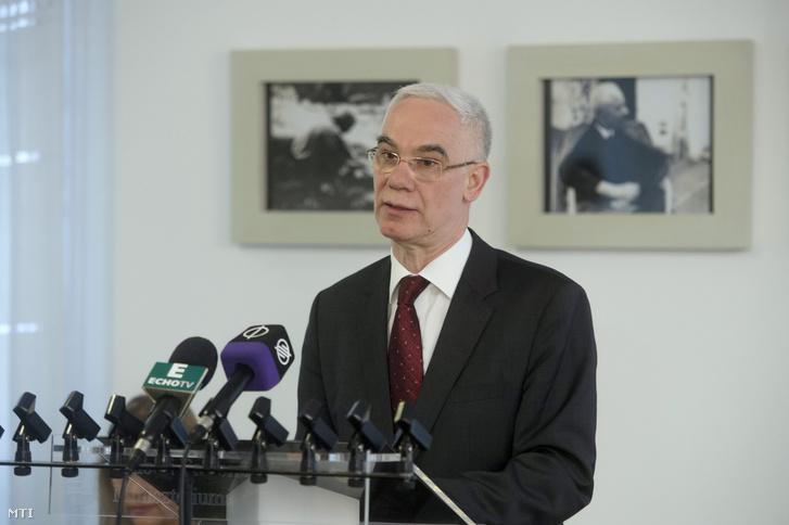 Balog Zoltán miniszter a Bartok-év sajtótájékoztatóján, 2016. január 28-án.