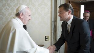 A nap képe: Leonardo DiCaprio és Ferenc pápa