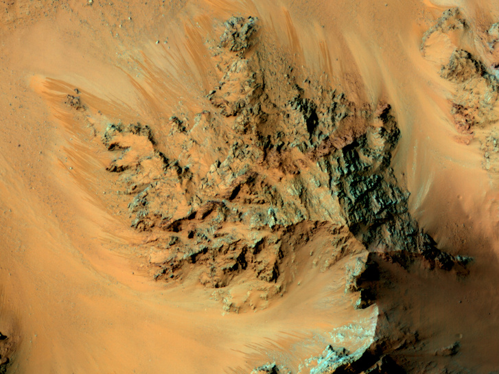 A Mars felszíne - mesés gombákat ne keressen a képen