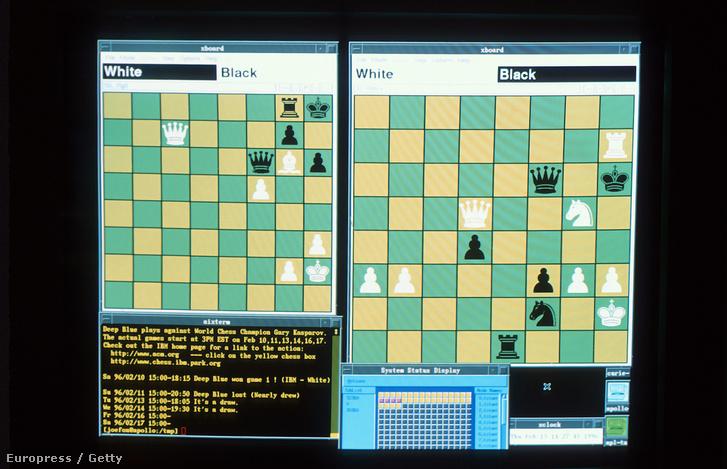 Deep Blue és Kaszparov sakk mérkőzése.