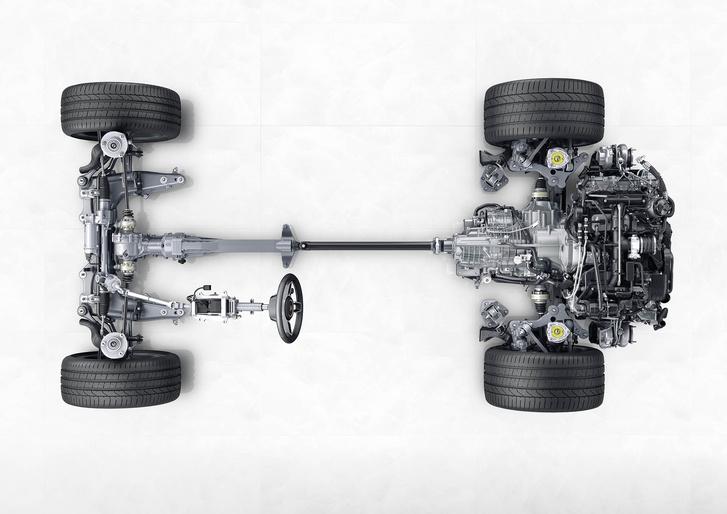 Próbálják a motort benyomni a hátsó kerekek közé. Az első hajtás a súlypontot kicsit előrébb viszi