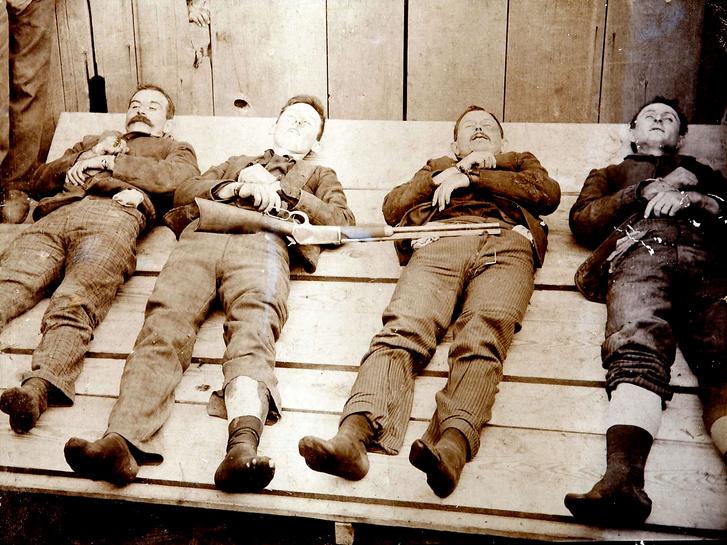 Bill Power; Bob Dalton; Grat Dalton, Dick Broadwell