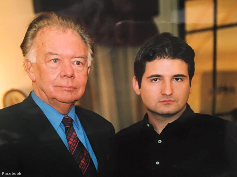Klausjürgen Wussow (balra) és Hajdú Péter (jobbra)