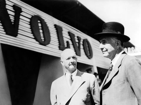 A Volvo két alapítója: Assar Gabrielsson és Gustaf Larson