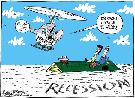 recesszio karikatura