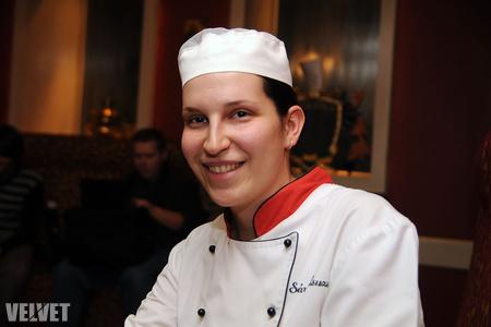 Sára Zsuzsa, az Arany Kaviár sous chefje