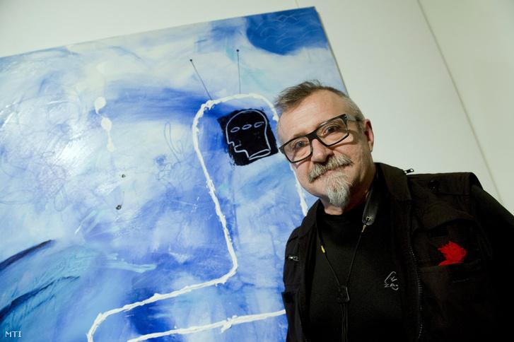 Wahorn András a kiállításmegnyitón