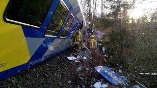 Frontálisan ütközött két vonat Németországban