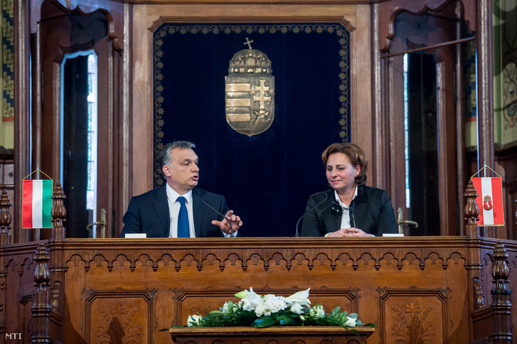 Orbán Viktor és Szemereyné Pataki Klaudia