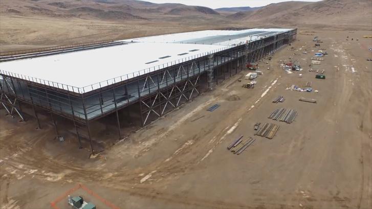 Épül a Gigafactory