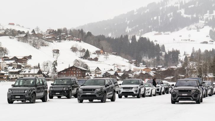 A járműpark  hegyek lábánál