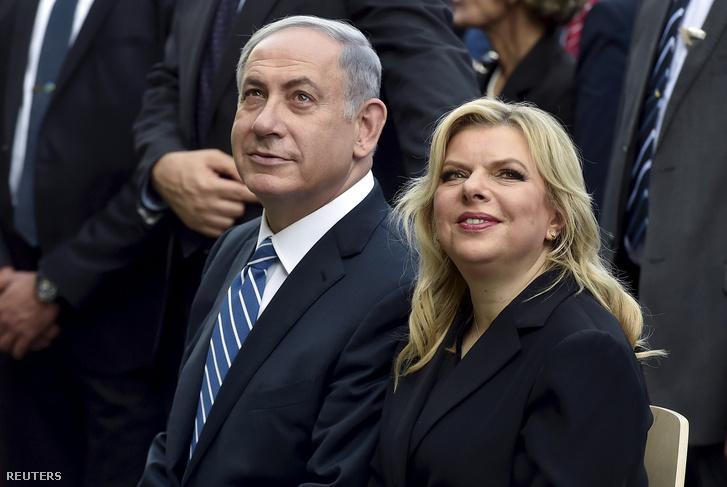 Benjamin Netanjahu és felesége, Sara
