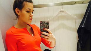 Csobot Adél most már nagyon terhes