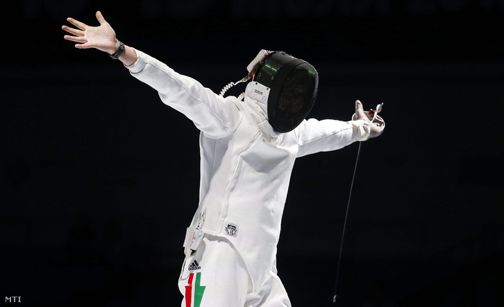 Imre Géza a moszkvai világbajnokság megnyert döntője után.