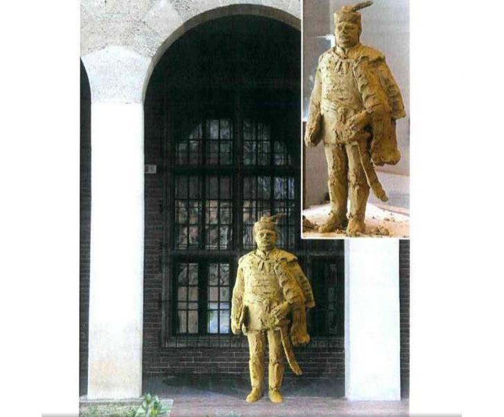 A Hóman-szobor látványterve