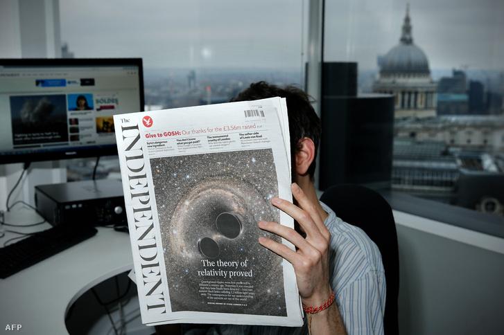A gravitációs hullámmal búcsúzik az Independent nyomtatott verziója
