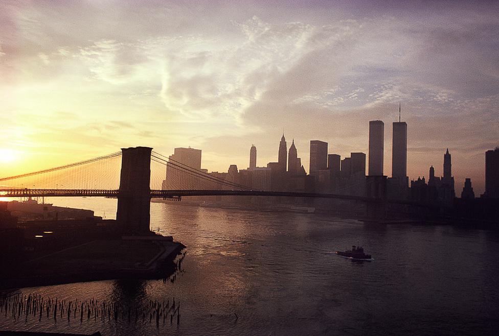 New York látképe a Manhattani híddal