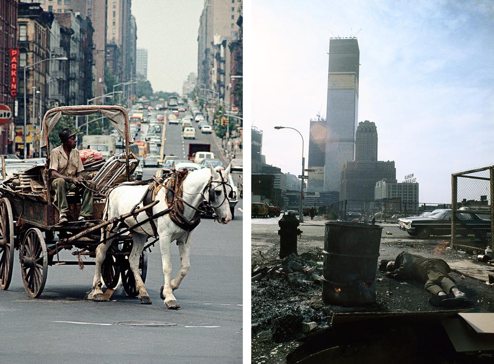Sugárút a Harlem felé / A World Trade Center épülő tornyai