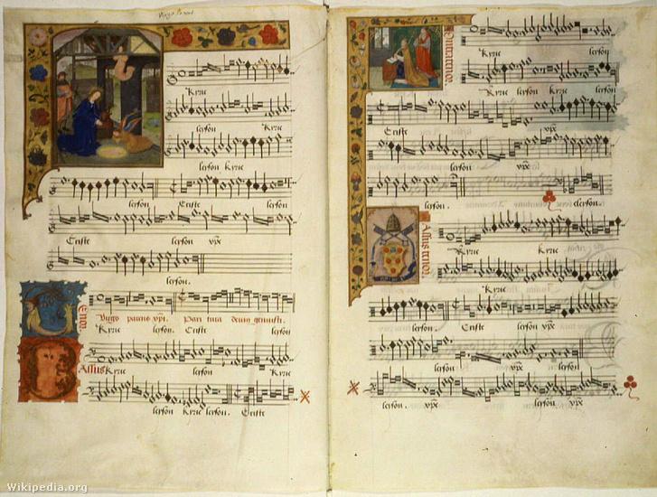 Barbireau egyik műve egy X. Leónak összeállított daloskönyvben