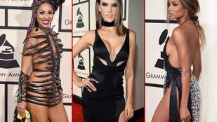 Szexis, kurvás és ufós ruhák következnek a Grammyről