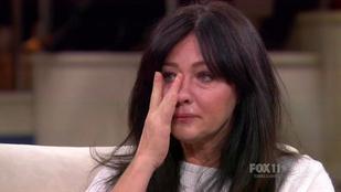 Shannen Doherty elsírta magát, mikor a mellrákjáról beszélt
