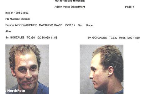 A pucerkodó Matthew McConaghuey-t le is tartóztatták