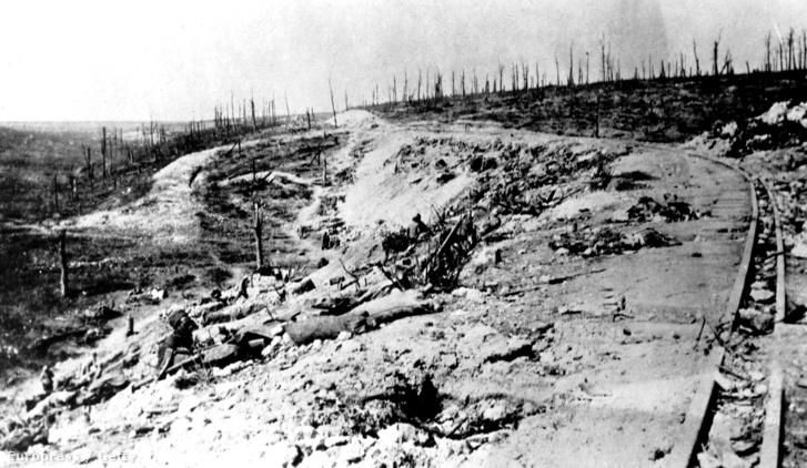 Tájkép a csata után Douaumont és Vaux között.