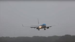 Viharos szél miatt landolt furcsán a Boeing Amszterdamban
