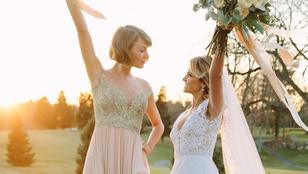 Taylor Swift koszorúslány lett, és ilyen volt-ilyen lett képeket posztolt