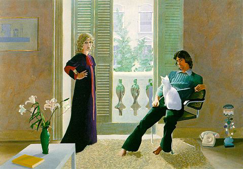 Mr and Mrs Clark and Percy (1970–71), Tate Gallery, London