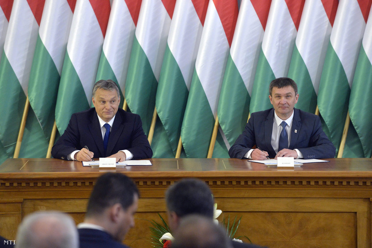 Orbán Viktor és Ács Rezső