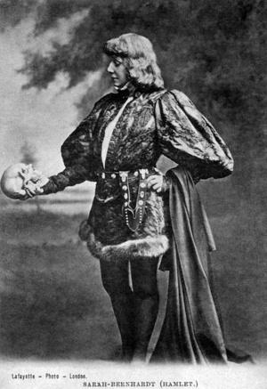 Sarah Bernhardt Hamlet szerepében