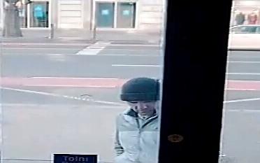 A rendőrség felvétele az ismeretlen tettesről