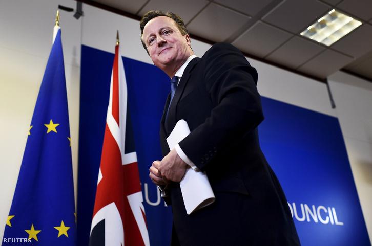 David Cameron az EU-val történő tárgyalások lezárása után Brüsszelben.
