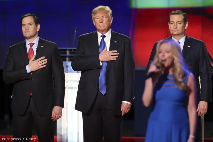 Marco Rubio, Donald Trump és Ted Cruz