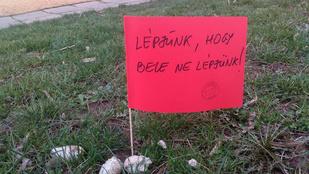 Lelkes önkéntesek zászlózták be a kutyaszart a pécsi kertvárosban
