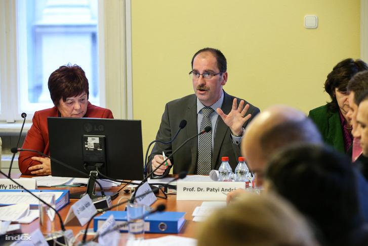 Patyi András a Nemzeti Választási Bizottság, 2016. február 29-ei ülésén.