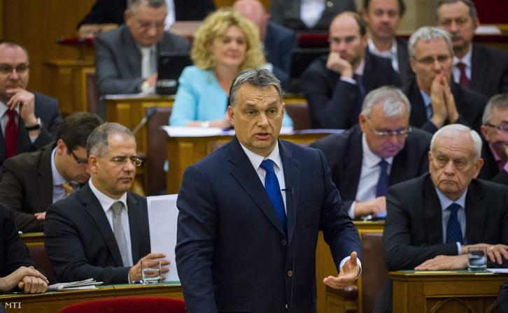 Orbán Viktor a Parlament február 29-ei ülésén.