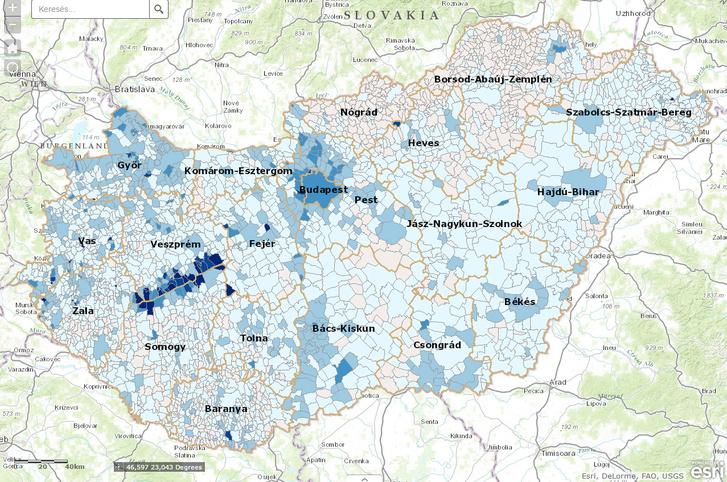 Egy főre jutó ivóvízfogyasztás 2013-ban.