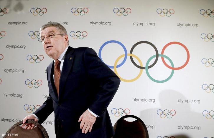 Thomas Bach, a Nemzetközi Olimpiai Bizottság elnöke a lausanne-i ülésen, 2016. március 2-án.