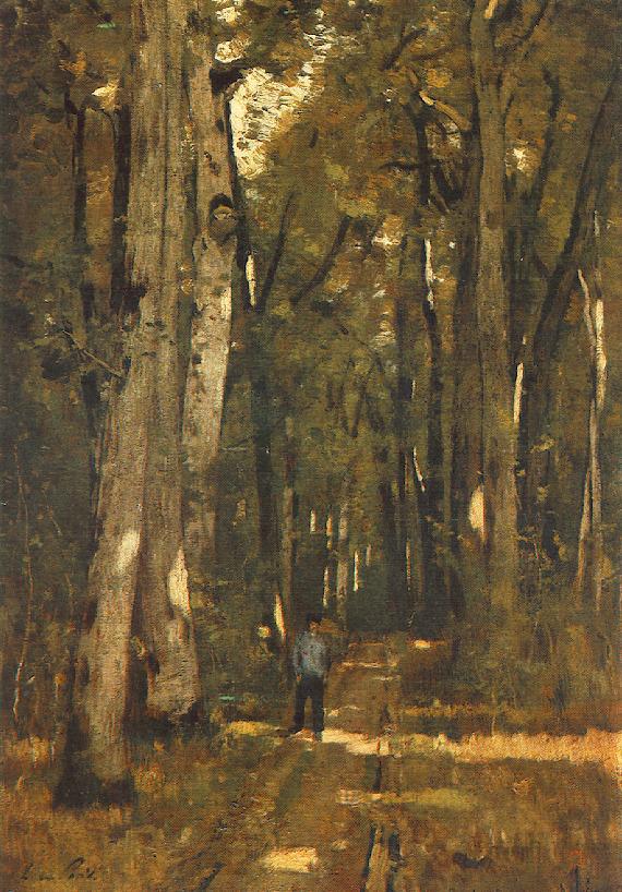 Paál László: Út a fontainebleau-i erdőben (1976)
