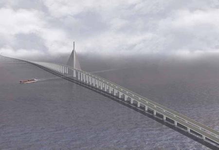 Látványterv a rekorder hídról