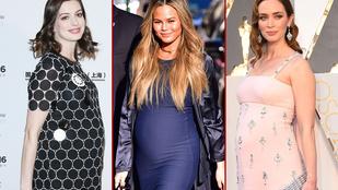 Nem Chrissy Teigen az egyetlen, akinek szuperül áll a terhesség