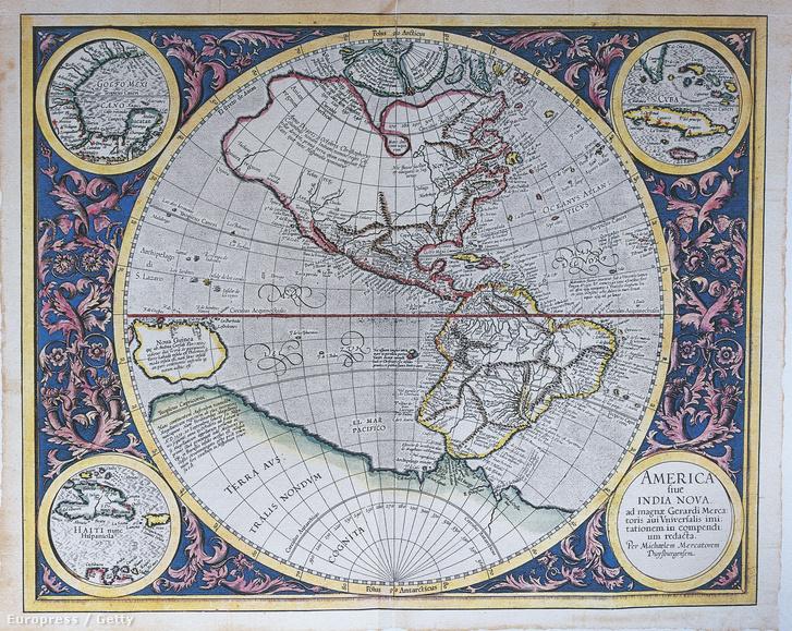 Így ábrázolták Amerikát 1628-ban