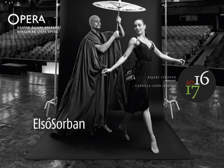 11) Bajári Levente (Mandarin), Carulla Leon Jessica (A lány) - Seregi-Bartók: A csodálatos mandarin – Erkel Színház színpad és nézőtér