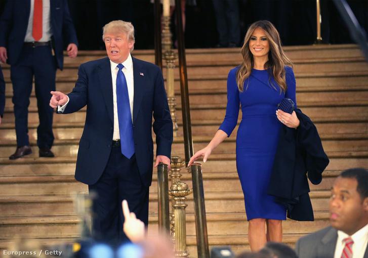 Donald Trump ésMelanija Knavs, azaz Melania Trump