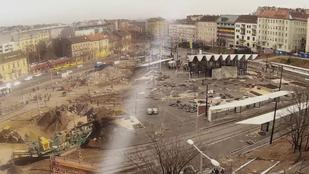 Széll Kálmán tér most vs. tavaly ilyenkor