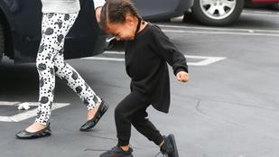 Kim Kardashianék gyereke már most lázad