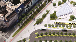 Mutatjuk, merre megy majd a Széll Kálmán téri kerékpárút