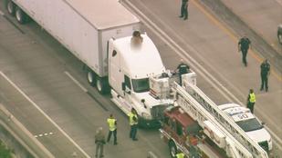 Meztelenül táncolt egy teherautó tetején, mielőtt lehozták